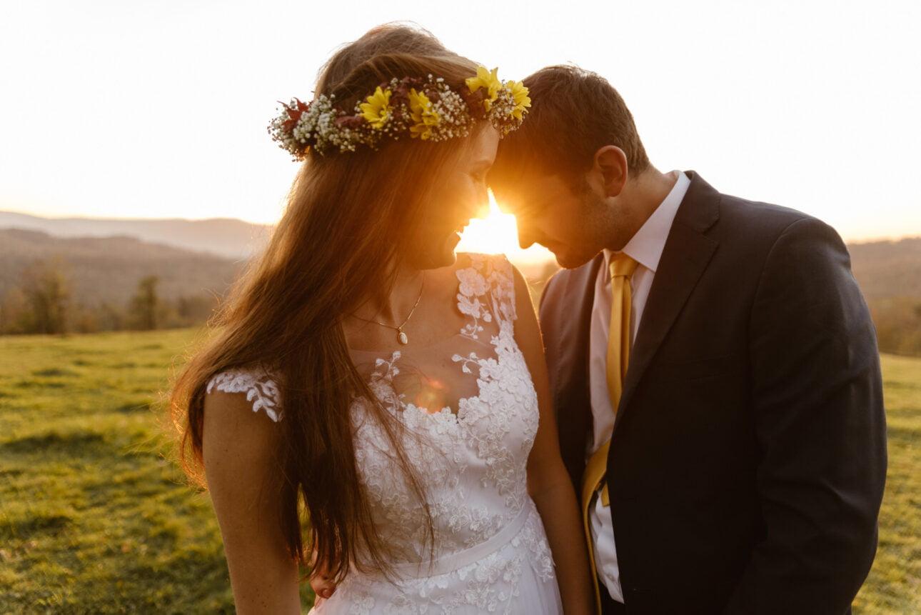 plener ślubny ozachodzie słońca