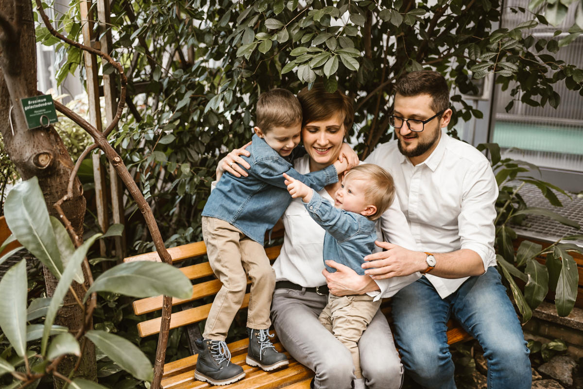 sesja rodzinna w palmiarni